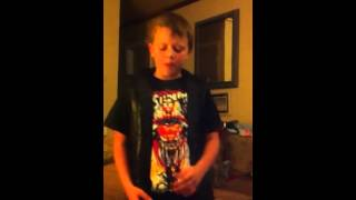 EMINEM biggest fan rapping 10 year old