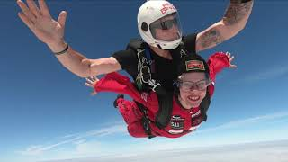 Susy Goodwin completes fundraising skydive for Taxi Charity