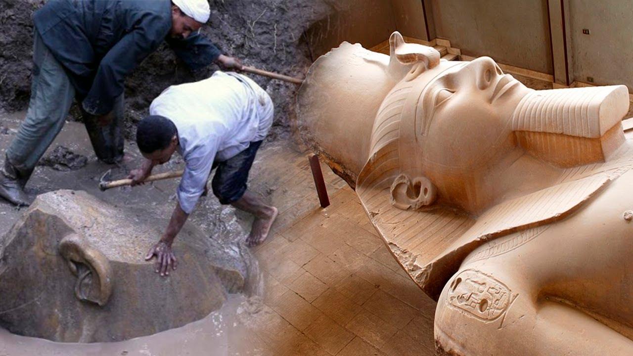 Der Riesige Ägyptische KOLOSS, Der Nicht Bewegt Werden Konnte!