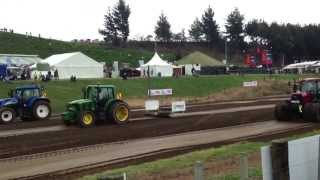 Tractor pulling race in Hamilton New Zealand