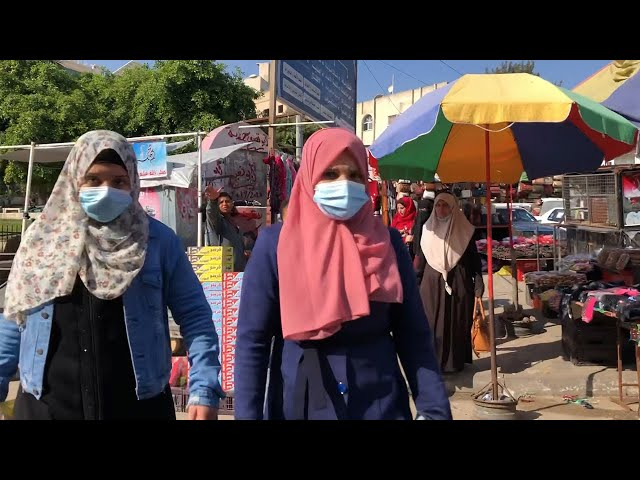 マスク姿わずか、苦境のガザ地区 「感染したら終わり」