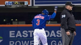 LAD@NYM Gm3: Granderson hits a bases-clearing double