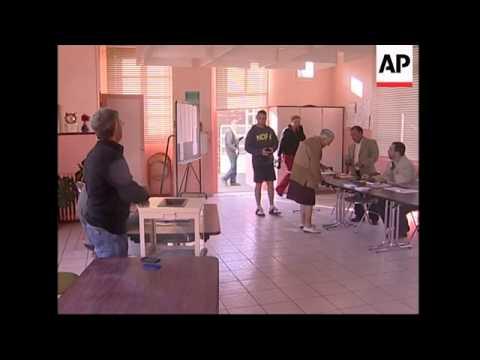 Polling station in Segolene Royal's constituency, voting, vox pops