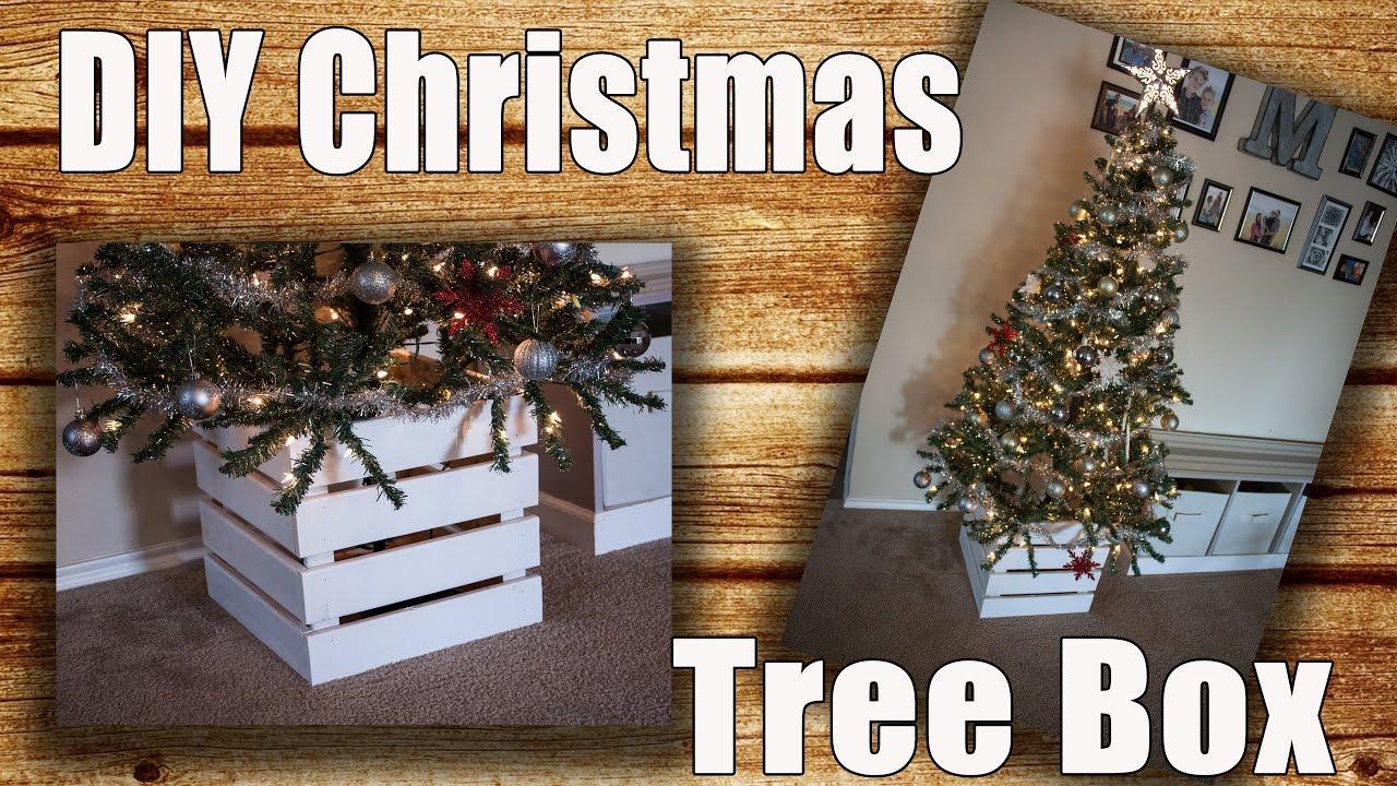 Diy Wooden Christmas Tree Collar Box Tree Skirt