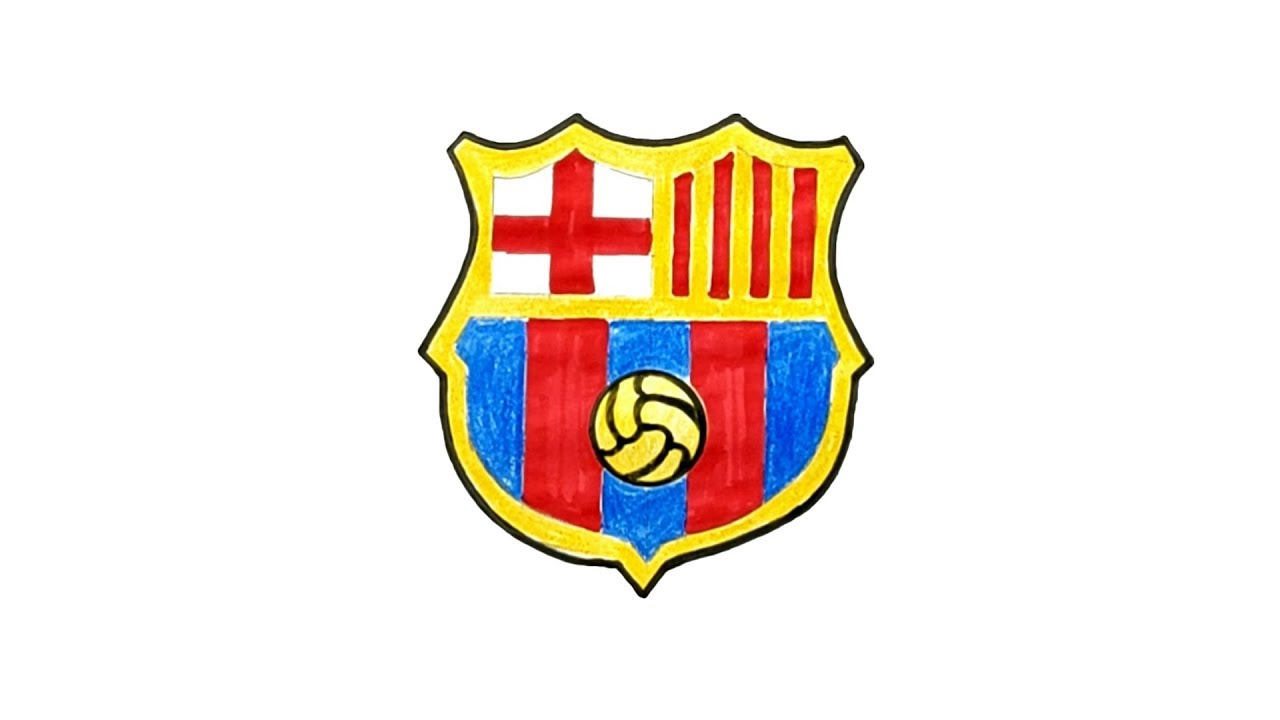 How to Draw the NEW FC Barcelona Logo (2019) - YouTube