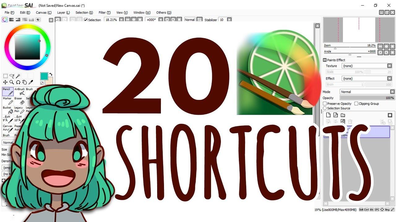 20+ Helpful Paint Tool SAI Shortcuts - Tutorial