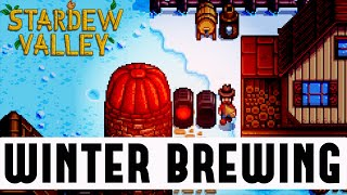 STARDEW VALLEY WINTER: Brewing, Mining & Stardew Valley Winter (Stardew Valley Gameplay #7)