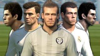 Gareth Bale from PES 2008 to PES 2017
