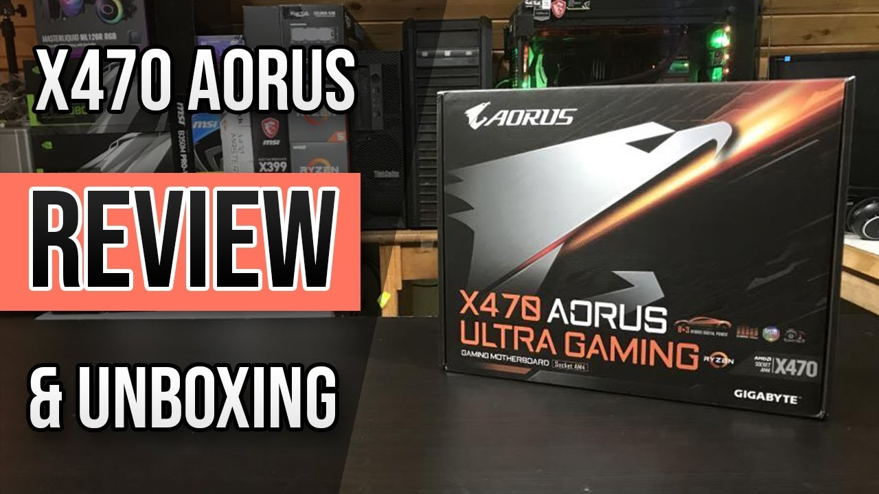 Gigabyte x470 Aorus Ultra Gaming Motherboard Unboxing, Review, & Build