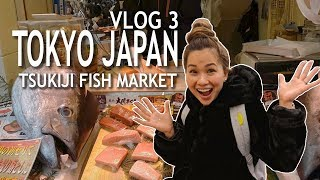 JAPAN VLOG 3 | TSUKIJI FISH MARKET!