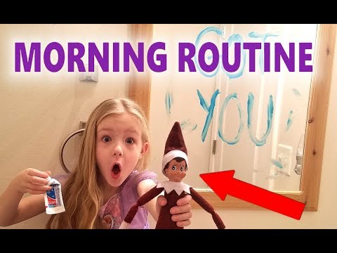 Sisters Morning Routine With Bad Elf on the Shelf Chucky!