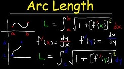 Arc Length Calculus Problems,