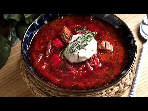 Borsch o sopa de remolacha -  Receta ORIGINAL