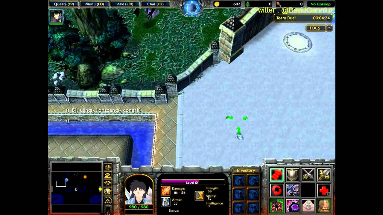 Fight Of Characters Game Play Naraku Warcraft 3 Frozen Throne
