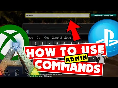 How To Use Ark Admin Commands PS4 - XB1 - Fly / God / Infinite Stats /  Resources / Ghost