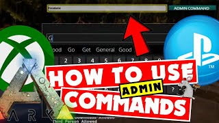 How To Use Ark Admin Commands PS4 - XB1 - Fly / God / Infinite Stats / Resources  / Ghost thumbnail