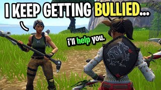I met a 9 year old kid that got bullied badly on Fortnite... (This Needs To STOP)