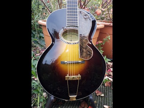 """daddystovepipe talks about and plays his """"Arrenbie"""" Archtop Guitar"""