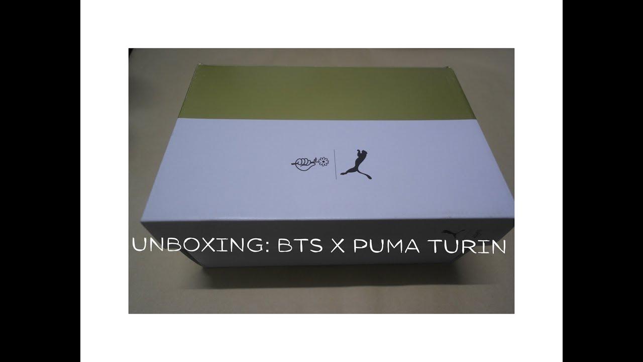 dc3b646b1a7 UNBOXING   BTS X PUMA TURIN - YouTube