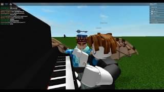 Roblox Virtual Piano - Bacon Hair plays like a Piano Legend!