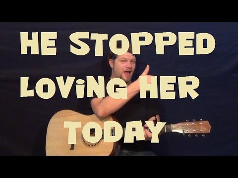 He Stopped Loving Her Today (George Jones) Easy Strum Guitar Strum Fingerstyle Lesson