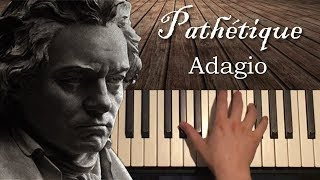 Beethoven - Pathétique Sonata - 2nd Movement (Piano Tutorial Lesson)
