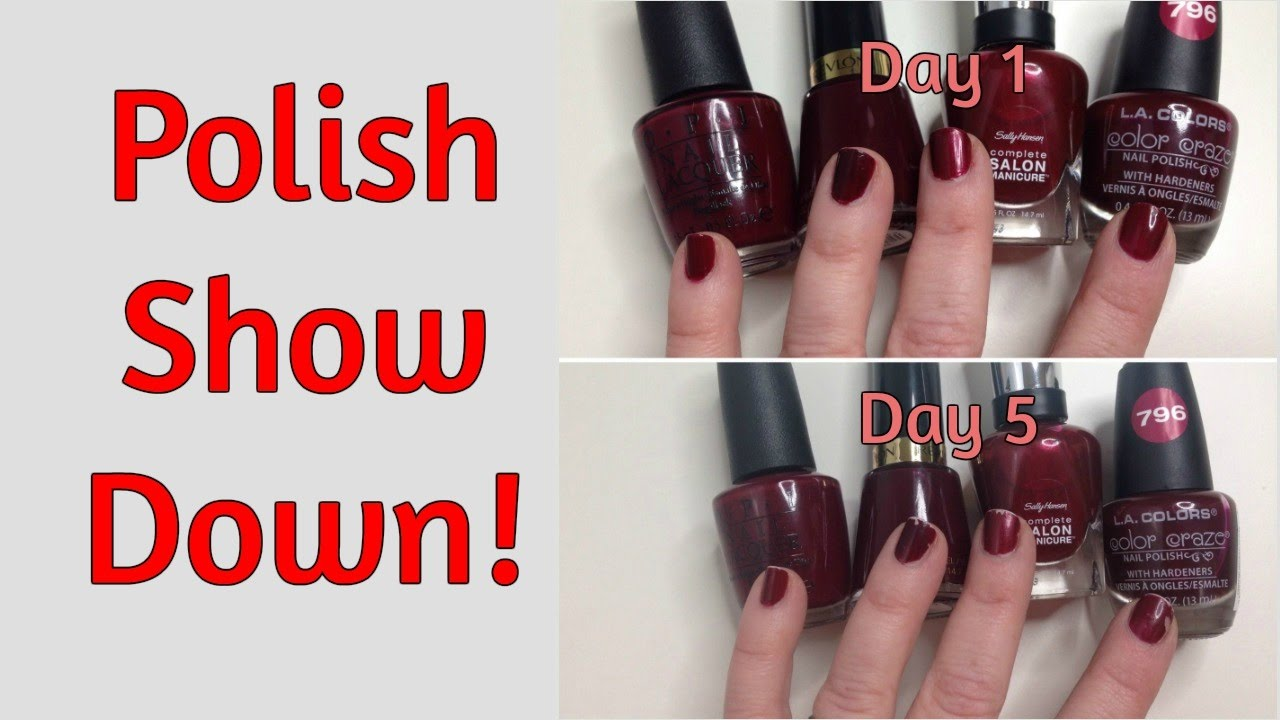 Comparing Drugstore Nail Polishes, Is There A Difference? - YouTube