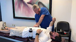 Chiropractic Adjustment For Lower Back Pain % Sciatica On Houston Man