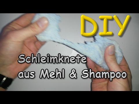 schleim knete aus mehl und shampoo selber machen diy slime tutorial deutsch youtube. Black Bedroom Furniture Sets. Home Design Ideas
