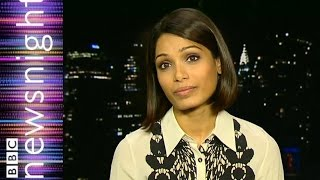 Freida Pinto on sexism in India - Newsnight