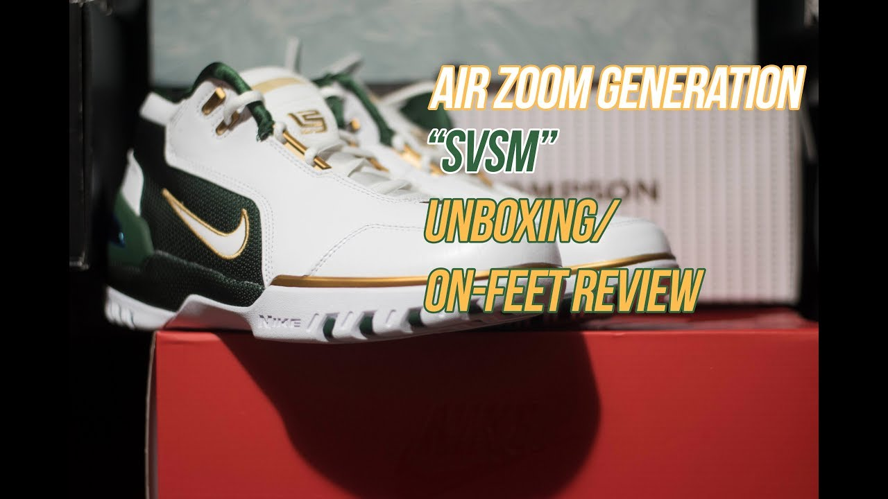 5648ef61833c Nike Air Zoom Generation SVSM  Sneaker Unboxing and Review - YouTube