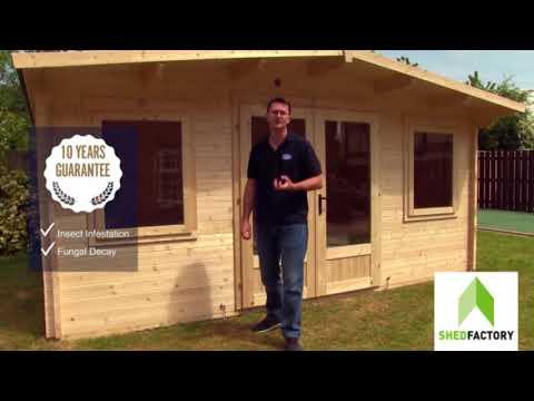Shed Factory Dunster House Log Cabins
