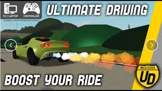 Roblox ultimate driving simulator My nissan gtr max speed !!!