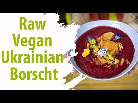Raw Vegan Ukrainian Borscht | Ready in 10 Minutes