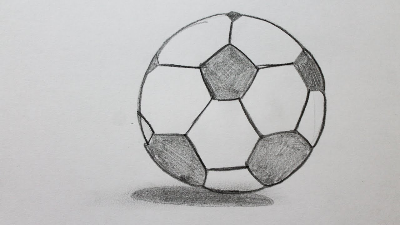 comment dessiner un ballon de football youtube. Black Bedroom Furniture Sets. Home Design Ideas