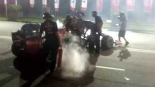 F1 Donuts in Colombo - Infiniti Red Bull Racing RB7 with Daniel Ricciardo