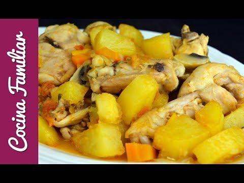 Pollo A La Campesina Paso A Paso. Recetas Para Dieta. Recetas Caseras De Javier Romero