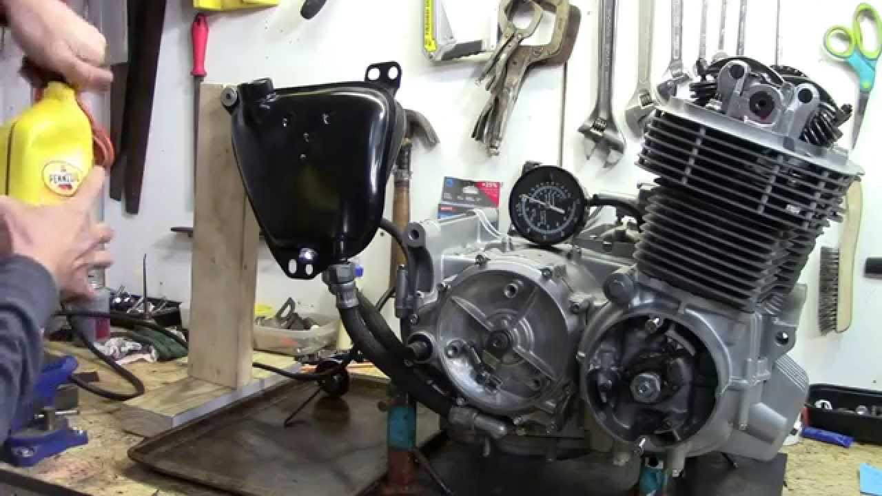 73 honda cb750 custom build part 22 oil pressure test [ 1280 x 720 Pixel ]