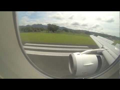 A320 Flight into into Port Vila airport - Air New Zealand
