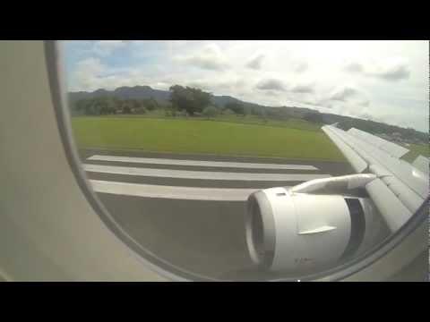 A320 Flight into into Port Vila airport - Air New Zealand