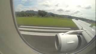 A320 Flight into  into Port Vila airport Air New Zealand