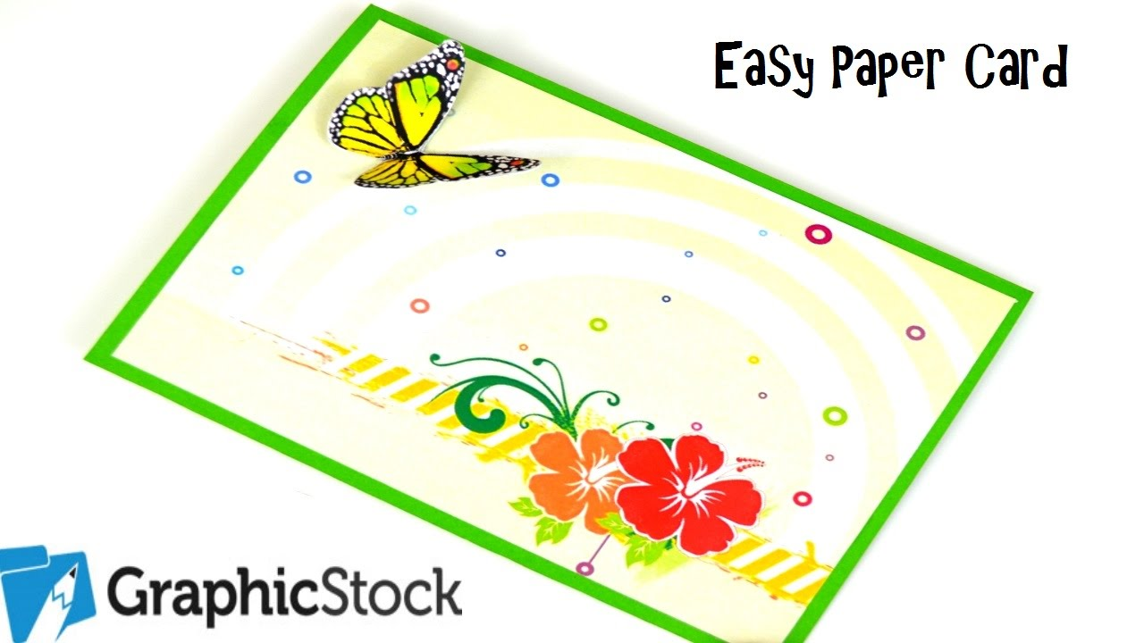 How to make an easy paper card using graphic stock diy paper how to make an easy paper card using graphic stock diy paper crafts birthday gift ideas youtube negle Image collections