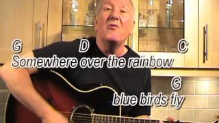 Somewhere over the rainbow israel kamakawiwo ole cover with on
