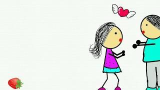 Tere bin ab raha na jayee || cartoon paar tanzt || romantisches Lied