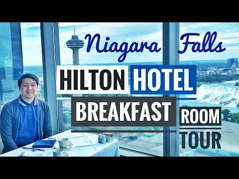 HILTON NIAGARA FALLS ROOM TOUR + BREAKFAST BUFFET 🇨🇦 | Canada Vlogs Ep.15