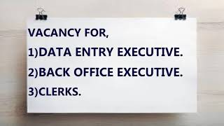 DATA ENTRY/ BACK OFFICE URGENT VACANCY IN MUMBAI CALL 8879694919.