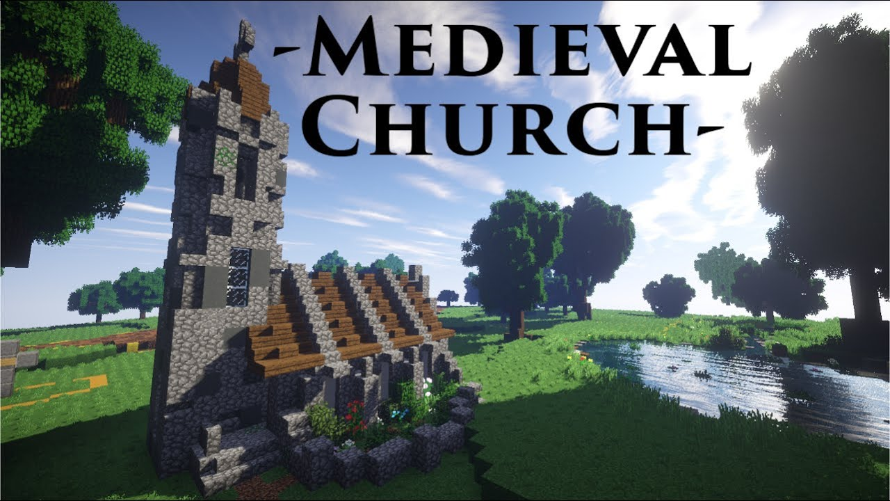 Minecraft Tutorial Mittelalterliche Kirche Medieval Church Youtube