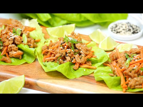 Make Ahead Chicken Lettuce Wraps | Low-Carb + Healthy + Easy Meal Prep Recipe