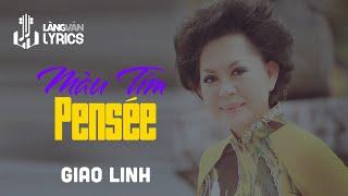 Màu Tím Pensée   Giao Linh   Official MV   Karaoke