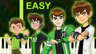 ALL Ben 10 Theme Songs On Piano